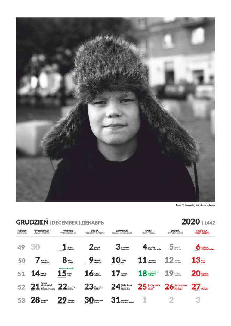 Kalendarz Tatarski - grudzień 2020