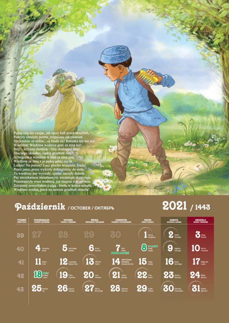Kalendarz Tatarski 2021 - Październik