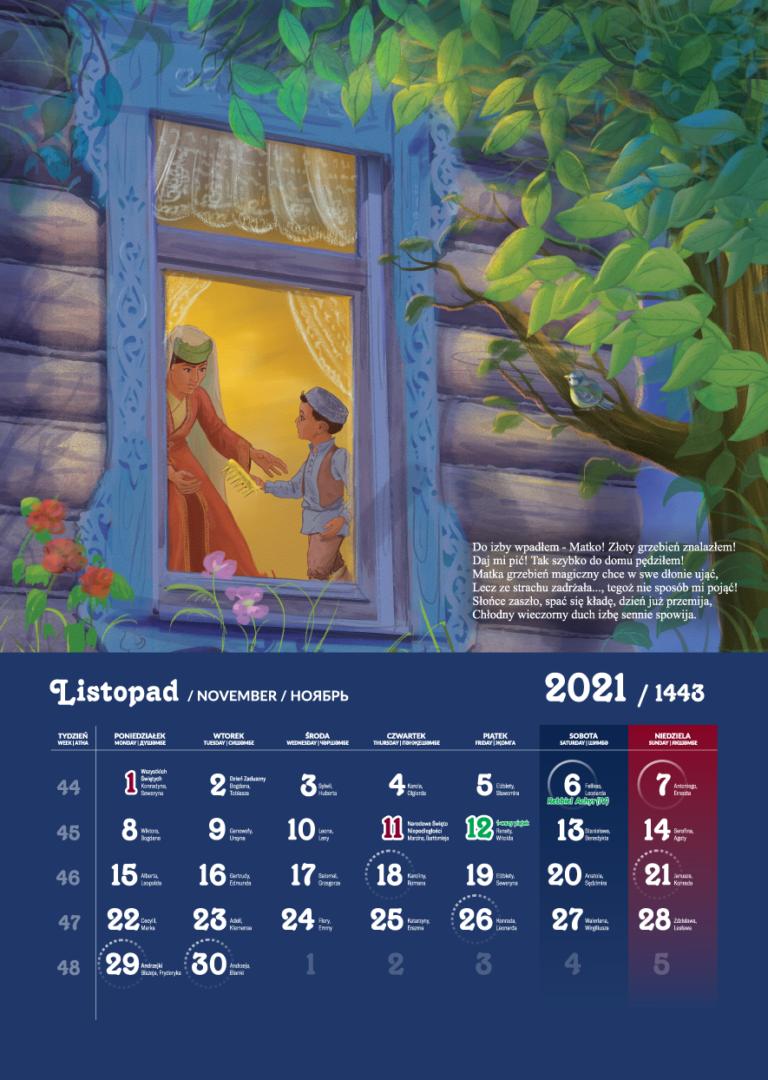 Kalendarz Tatarski 2021 -  Listopad