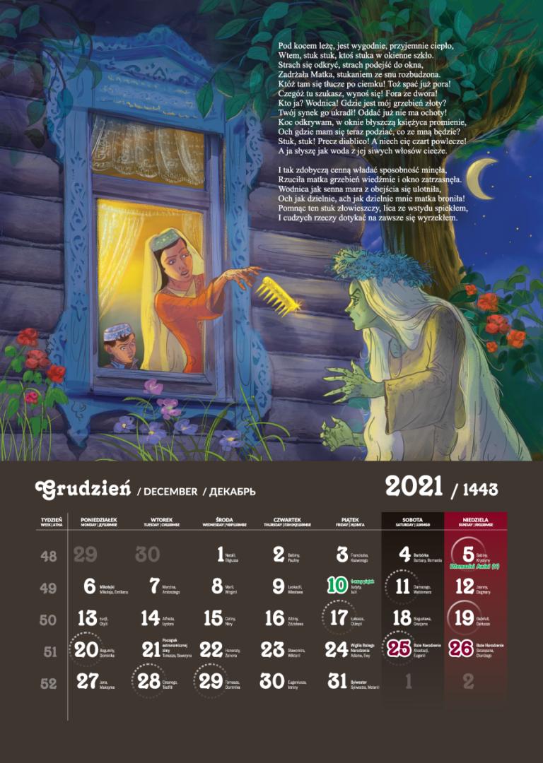 Kalendarz Tatarski 2021 - Grudzień