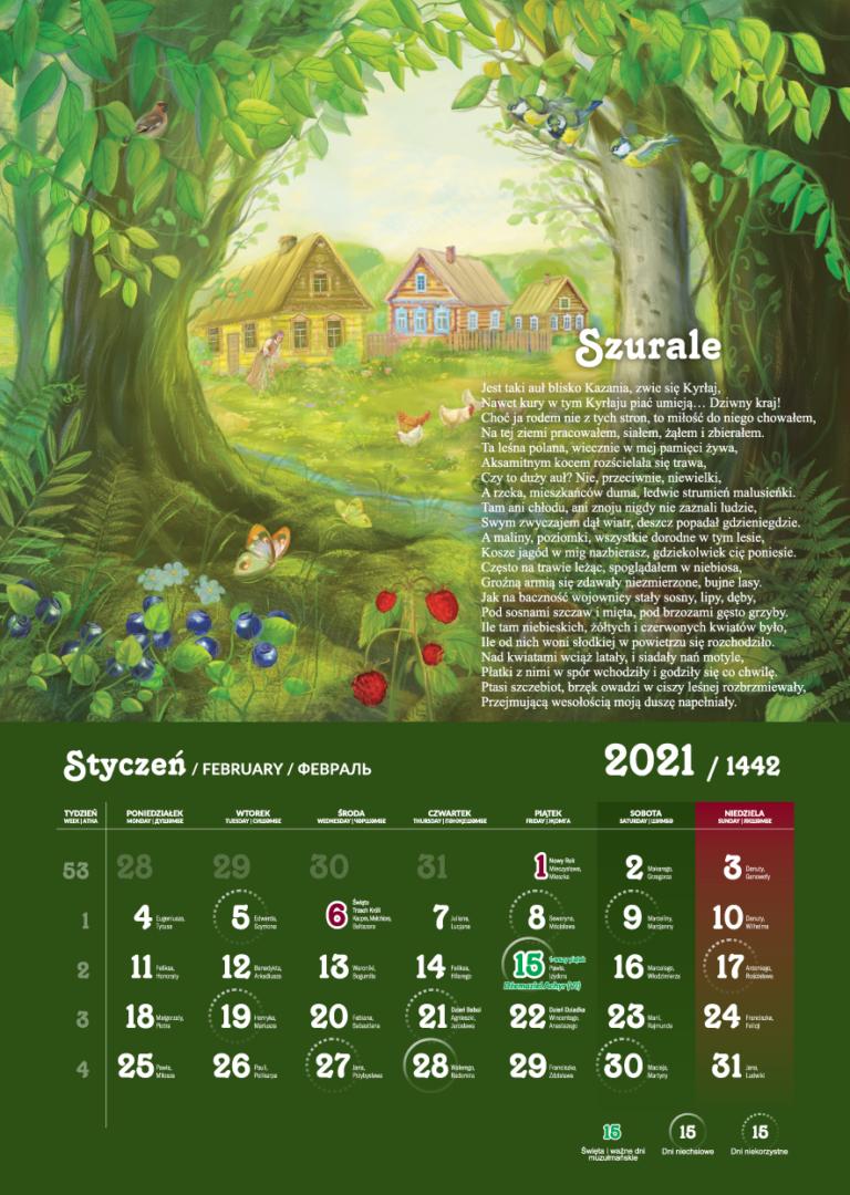 Kalendarz Tatarski 2021 - Styczeń