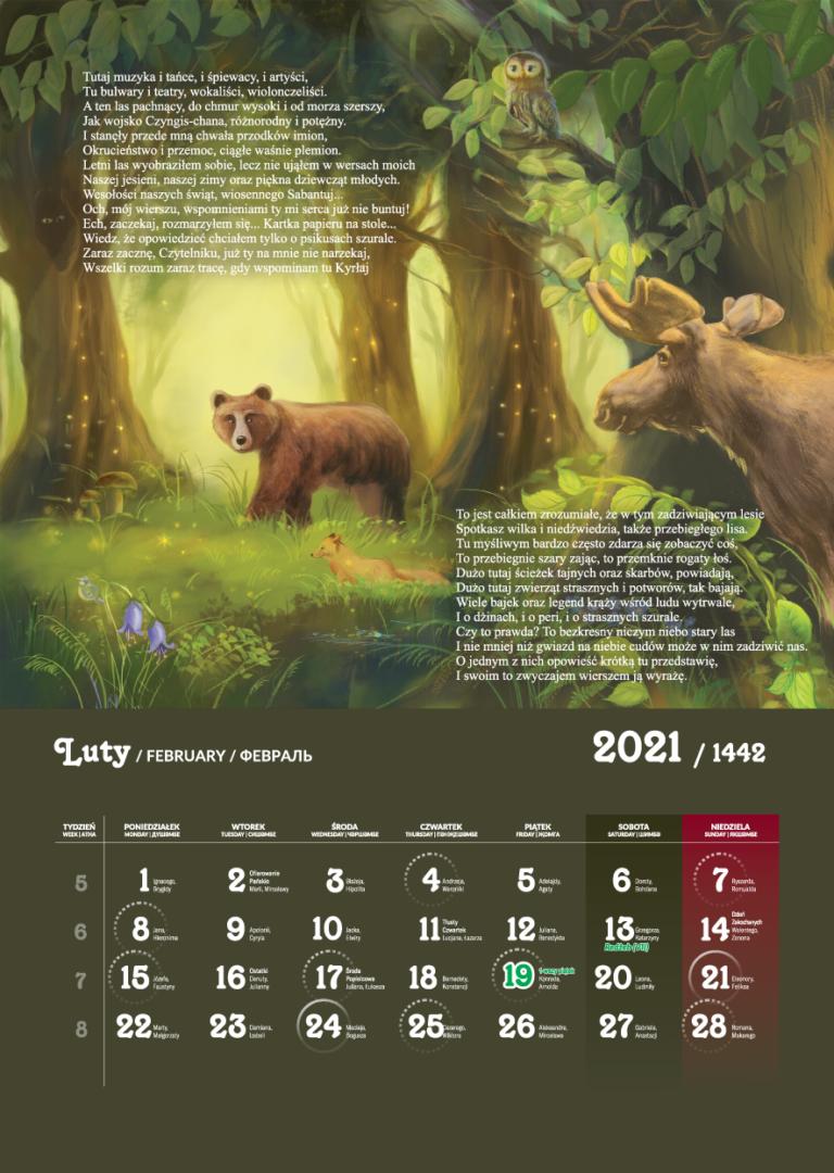 Kalendarz Tatarski 2021 - Luty