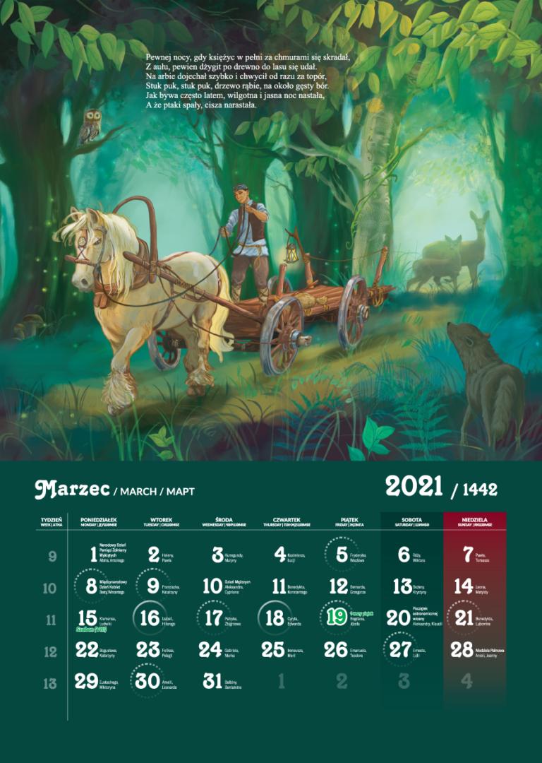 Kalendarz Tatarski 2021 - Marzec