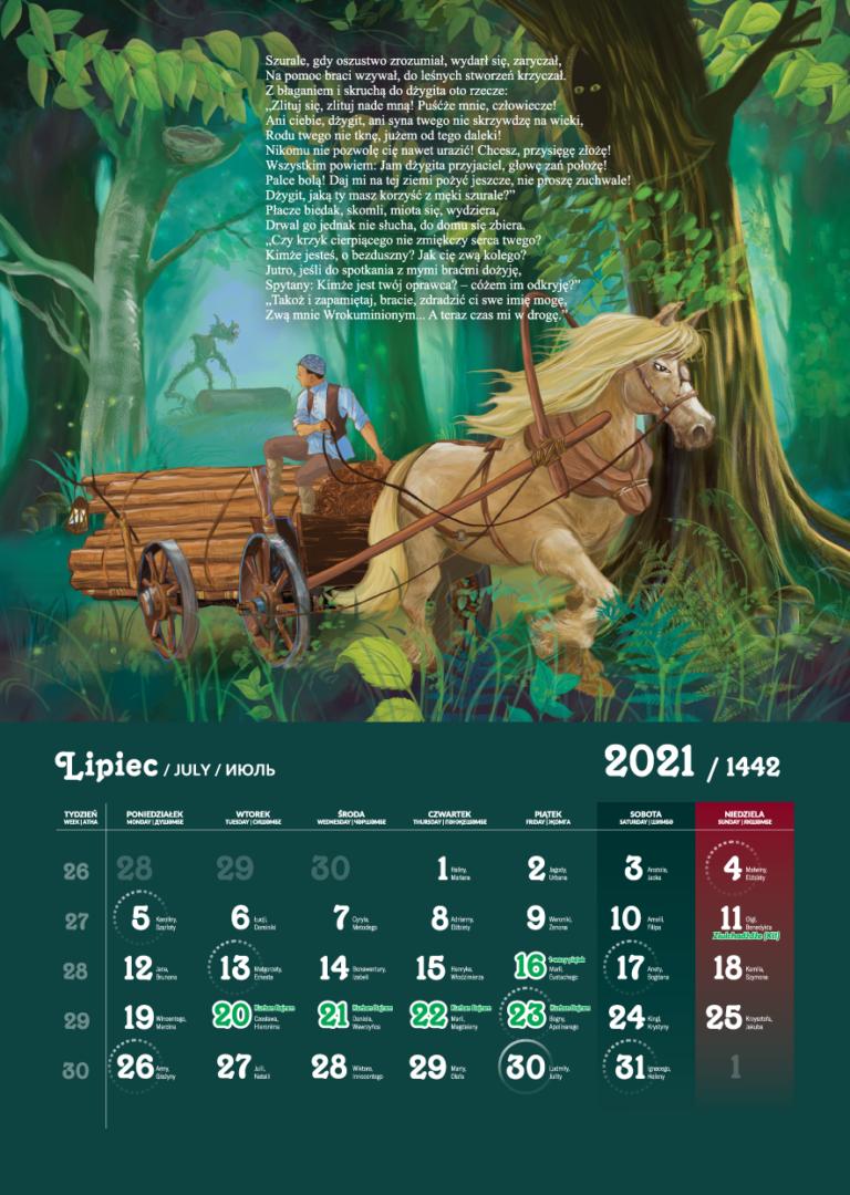 Kalendarz Tatarski 2021 - Lipiec