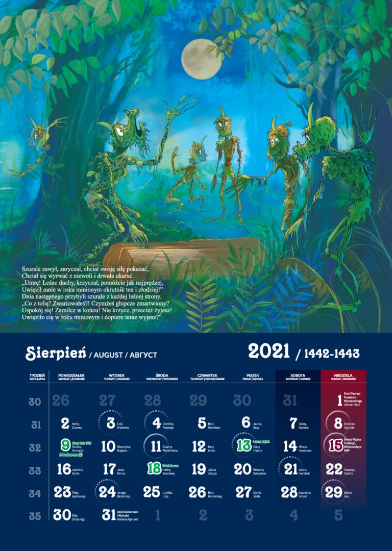 Kalendarz Tatarski 2021 - Sierpień